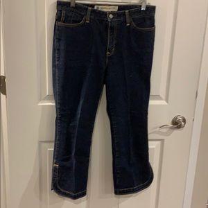 Gap cropped boot cut stretch jeans